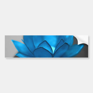 Blue Lotus Flower Bumper Sticker