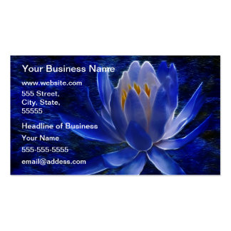 Blue Lotus Flower Pack Of Standard Business Cards