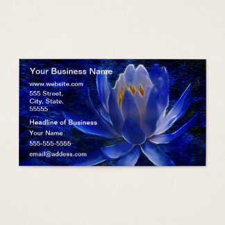Blue Lotus Flower Business Card