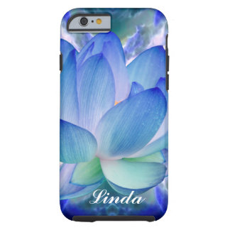 Blue lotus flower Customize Tough iPhone 6 Case
