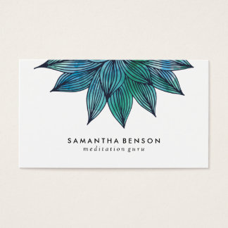 Blue Lotus Flower | Floral Watercolor Appointment Business Card