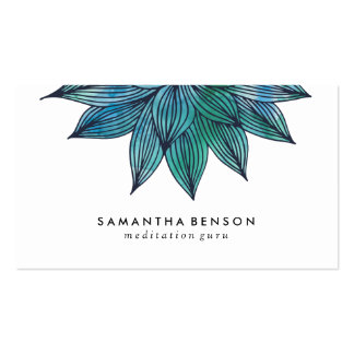 Blue Lotus Flower | Floral Watercolor Appointment Pack Of Standard Business Cards