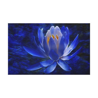 Blue Lotus flower for Mothers Day Gallery Wrapped Canvas