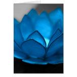 Blue Lotus Flower Greeting Card