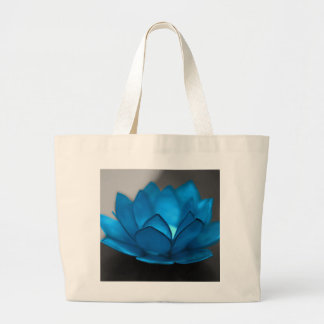 Blue Lotus Flower Large Tote Bag