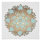 Blue Lotus Flower Mandala Poster