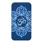 Blue Lotus Flower Om