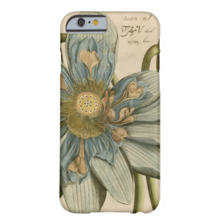 Blue Lotus Flower on Tan Background with Writing Barely There iPhone 6 Case
