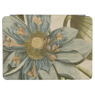 Blue Lotus Flower on Tan Background with Writing iPad Air Cover