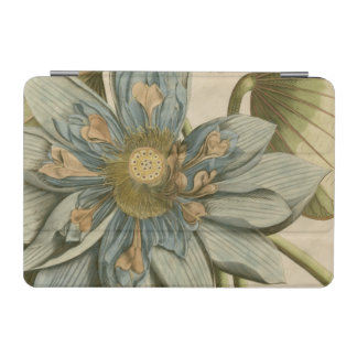 Blue Lotus Flower on Tan Background with Writing iPad Mini Cover