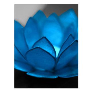 Blue Lotus Flower Postcard