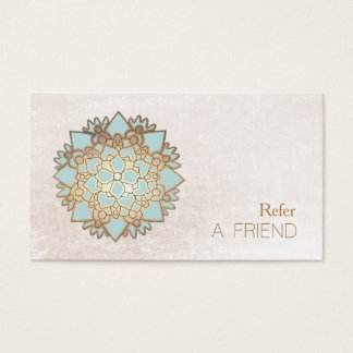 Blue Lotus Flower Salon & Spa Refer A Friend White