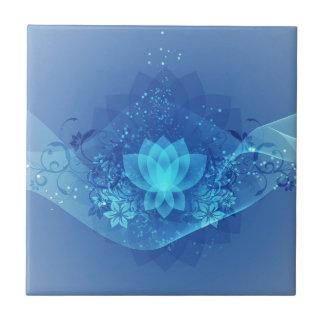 Blue Lotus Flower Ceramic Tile