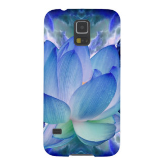 Blue lotus lily cases for galaxy s5