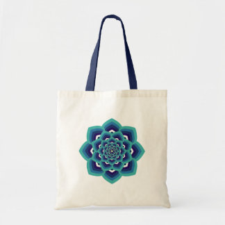 Blue Lotus Mandala Tote Bag