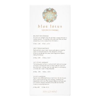 Blue Lotus Massage Therapist Price List Menu