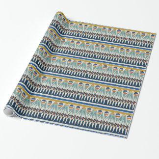 Blue lotus motif of Pairy Wrapping Paper