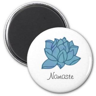Blue Lotus Namaste Magnet