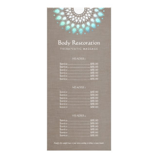 Blue Lotus Natural Health and Wellness Price List Full Color Rack Card