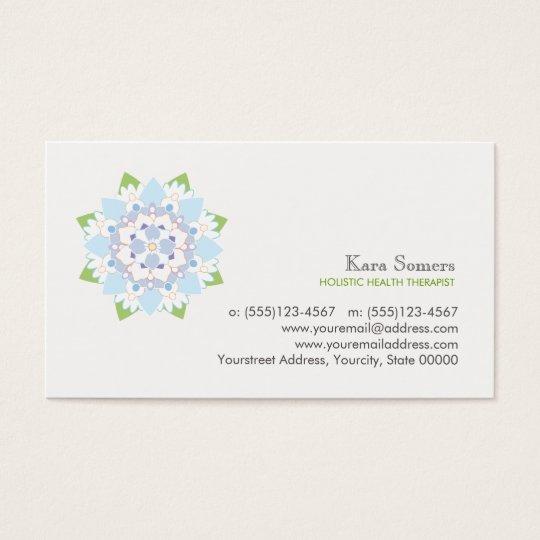 Blue Lotus Natural Health Healer Business Card