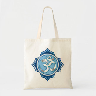 Blue Lotus Om Tote Bag