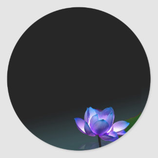 Blue lotus stickers, personalize it