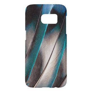 Blue Love Bird Feather Design