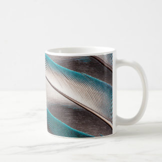 Blue Love Bird Feather Design Coffee Mug