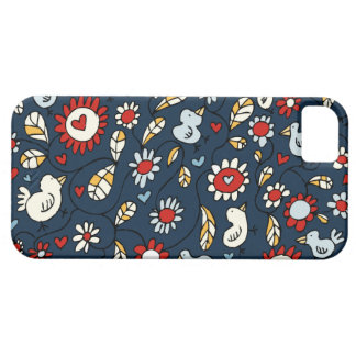 Blue Love Bird Flowers iPhone 5 Case