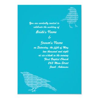 Blue Love Birds Invite