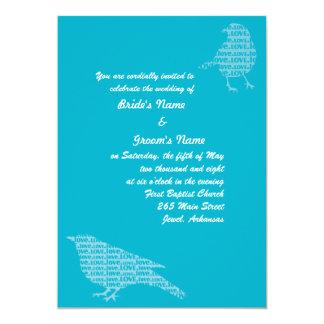 Blue Love Birds Invite