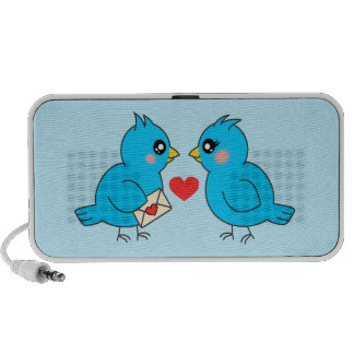 Blue Love Birds Portable Speaker