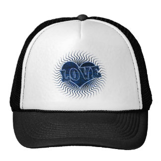 Blue love heart for Valentines Day Trucker Hat