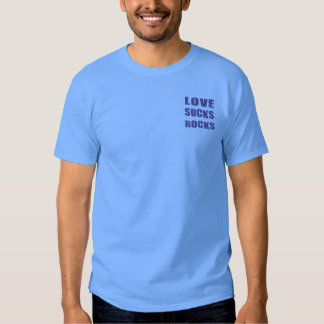 Blue Love Sucks Rocks T-shirt