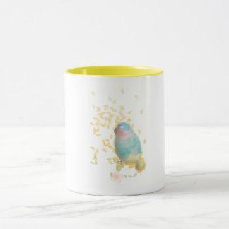 Blue Lovebird Mug by ORDesigns.