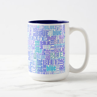 Blue lovers typo mug