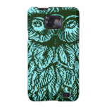 Blue Luck Owl Samsung Galaxy SII Cases