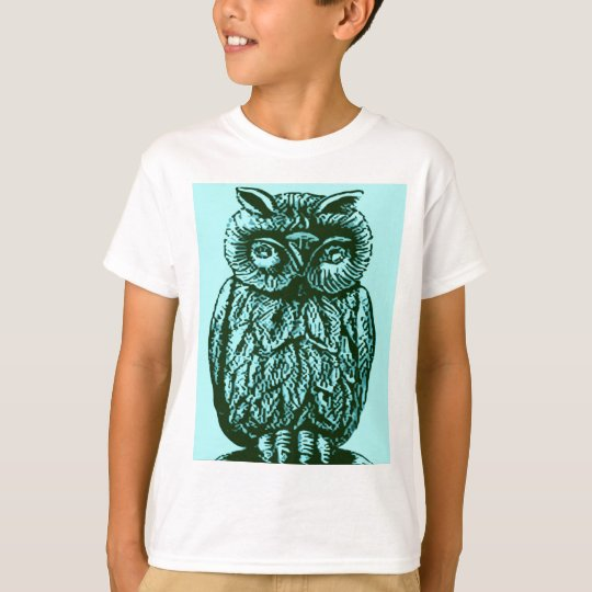 Blue Luck Owl T-Shirt