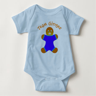 Blue Lucky Team Ginger For Fun Ginger and Redheads Baby Bodysuit