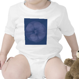 Blue Luminous Flower T Shirts