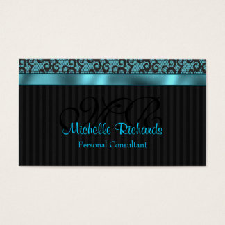 Blue Luxury Lace Business Card