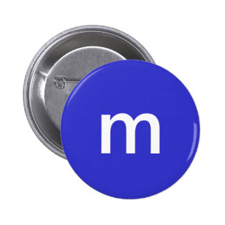 Blue m&m 6 cm round badge