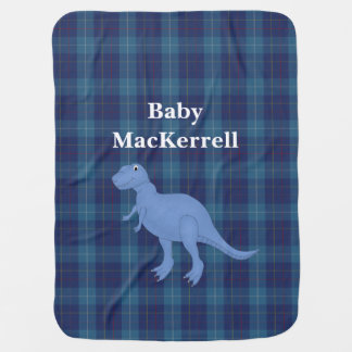 Blue MacKerrell Tartan Plaid Baby Blanket
