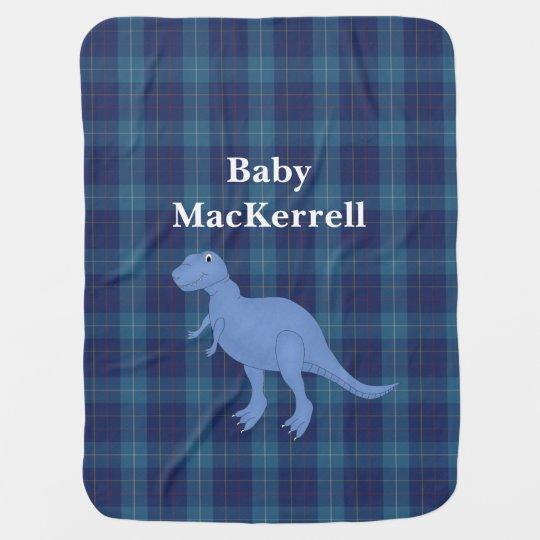 Blue MacKerrell Tartan Plaid Baby Blanket