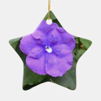 Blue Macro Flower Ornament