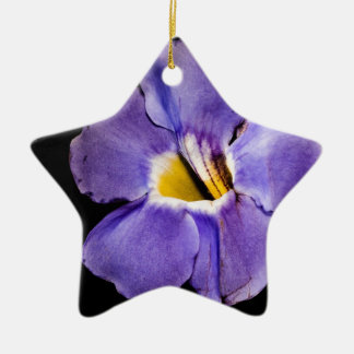 Blue Macro Flower Christmas Tree Ornaments