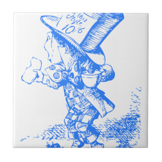 Blue Mad Hatter Tile