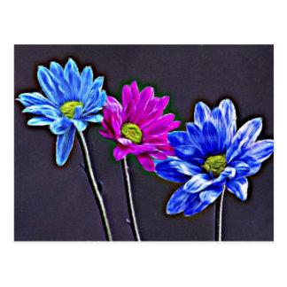 Blue Magenta Postcard