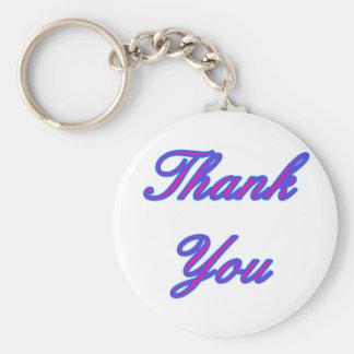 Blue Magenta Thank You Design The MUSEUM Zazzle Gi Keychain