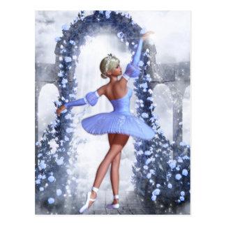 Blue Magical Ballerina Postcard